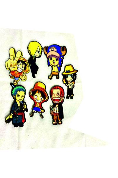 ZID One Piece Şanji Zoro Tony Luffy Magnet Seti 7'li