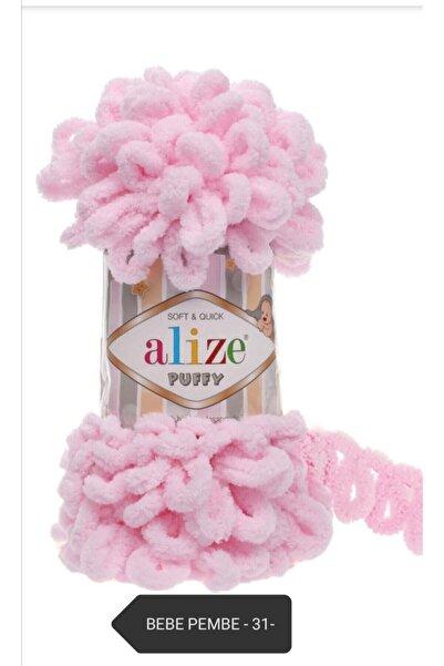 Alize Puffy Parmak Örgü Ipi El Örgü Ipi -bebe Pembe -31-