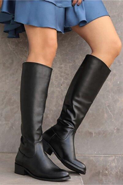 Mio Gusto Vivien Siyah Fermuarlı Çizme