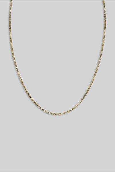So CHIC... 18 Ayar Sarı Altın Kaplama 55 Cm Gümüş Zincir Kolye