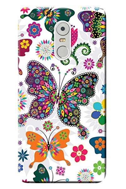 LENOVO K6 Note Uyumlu Kılıf Baskılı Silikon Kapak Renkli Kelebekler Stk:541