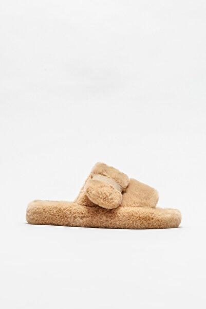 Elle Shoes Camel Kadın Düz Terlik