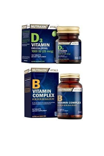 Nutraxin B1,b2,b3,b5,b6,biotin,b9,b12 Içeren B Vitamini 60 Tablet+d3 Vitamini 120 Tablet