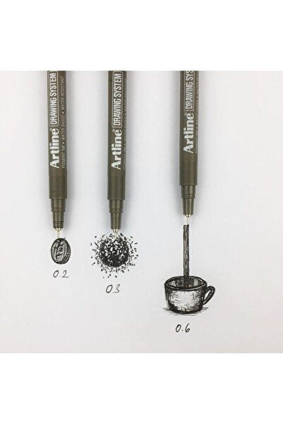 artline Drawing 3lü Set 0.2-0.3-0.6mm