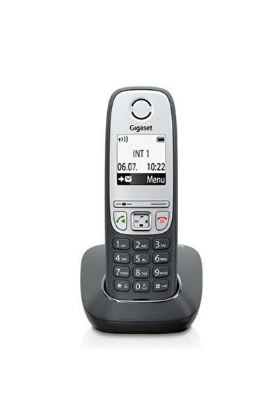 GIGASET A415 Kablosuz Lcd Ekranlı Telefon Siyah Gümüş