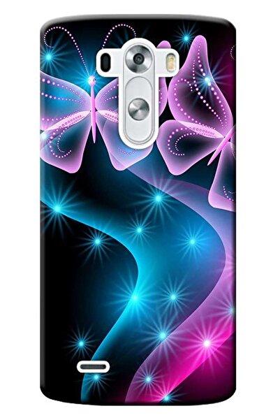 LG G4 Beat Uyumlu Kılıf -h735 Baskılı Silikon Kapak Kelebek Daa Stk:113