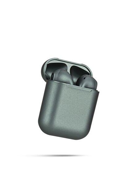 TrkTech Airpods 2. Nesil I12 Antrasit Gri Bluetooth Kulaklık Tüm Telefonlar ile Uyumlu