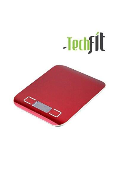 Techfit Tf1002 Dijital Hassas Led Ekran Mutfak Terazisi 5 Kg Kırmızı