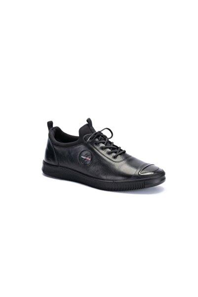 MARCOMEN 03322 Erkek Günlük Casual Deri Tarz Ayakkabı Siyah