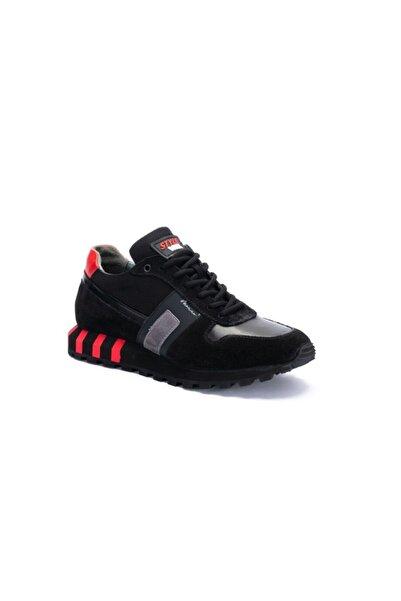 MARCOMEN 14250 Erkek Günlük Eva Taban Casual Nubuk Deri Tarz Ayakkabı Siyah Nubuk