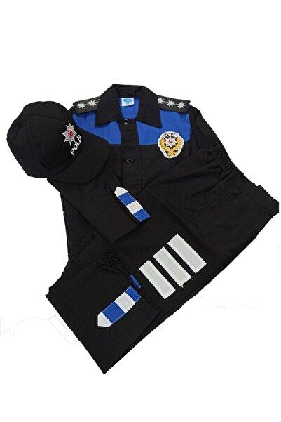 NO NAME Çocuk Siyah Polis Kıyafeti