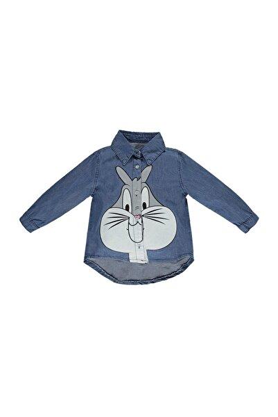 Overdo Bugs Bunny Baskılı Unisex Çocuk Gömlek