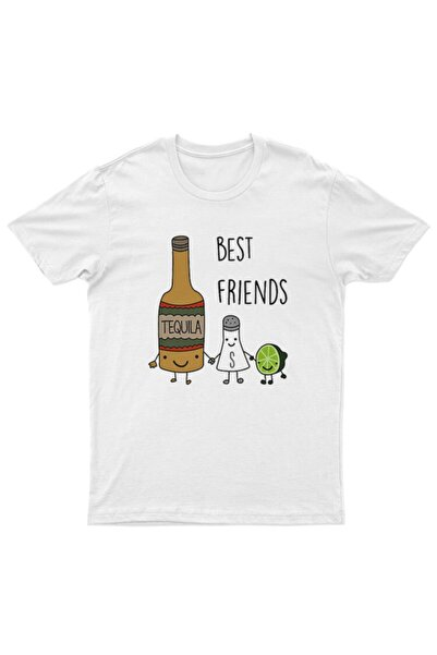 TisortFabrikasi Best Friends Desenli Unisex T-shirt - Tişört