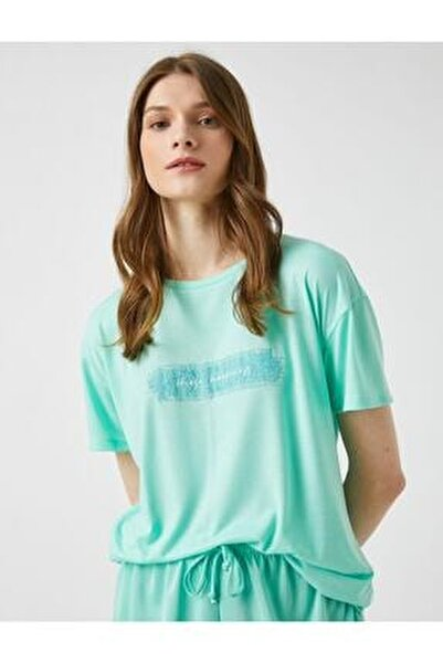 Kadın Nane Yeşili T-Shirt