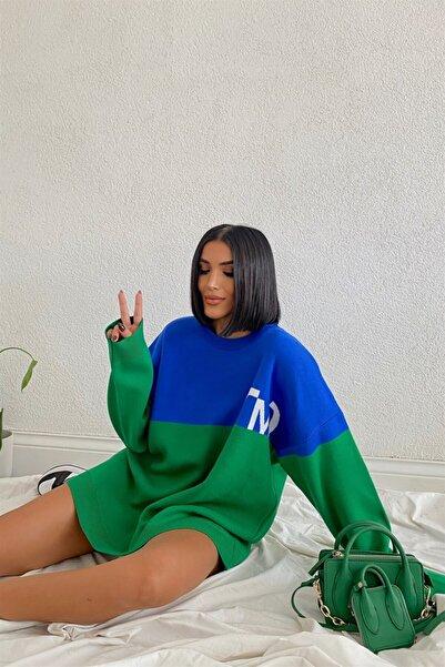 My love butik Çift Renk Triko Kazak
