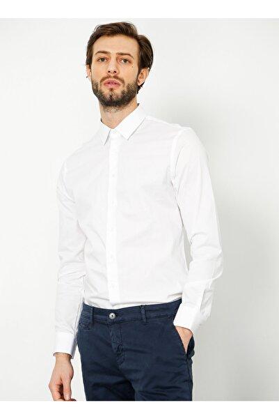 Fabrika Erkek Beyaz Gömlek