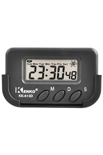 Kenko Kk-613d Kronometre Alarm Dijital Küçük Masa Araba Saati