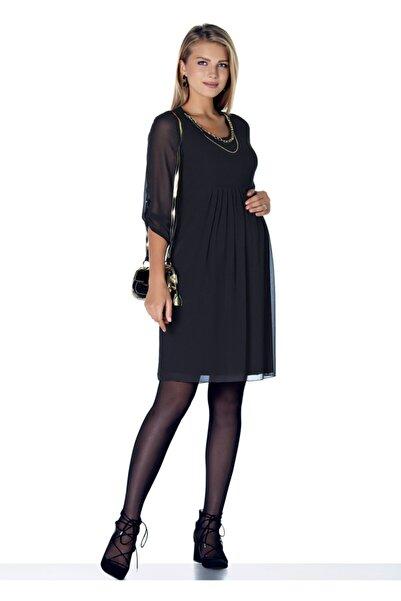 Ebru Maternity Kolyeli Şifon Hamile Abiye Elbise