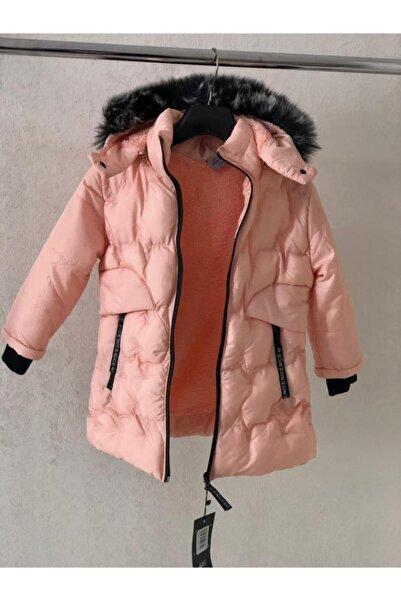 Fumos Fashion Kız Çocuk Mont Su Ve Rüzgar Geçirmez Kürklü Çıkarılabilir Kapüşonlu Şişme