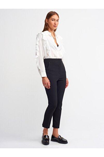 Dilvin 4850 Paça Yırtmaçlı Klasik Pantolon-siyah
