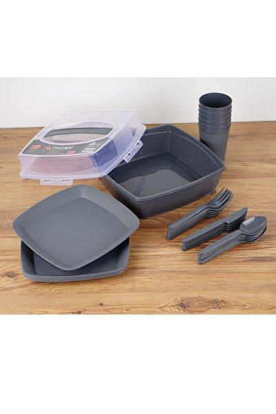 bimbambom Piknik Seti 32 Parça Taşıma Çantalı Siyah