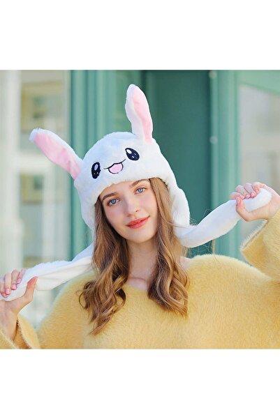 SHIVA Gift&More Kulakları Hareket Eden Tavşan Şapka Peluş Oyun Arkadaşı