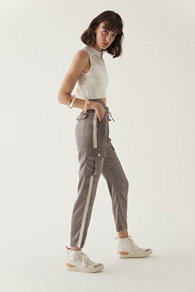 rue. Vizon Şerit Detaylı Cepli Pantolon