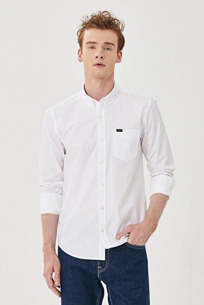 Lee Erkek Beyaz Regular Fit Uzun Kol Gömlek