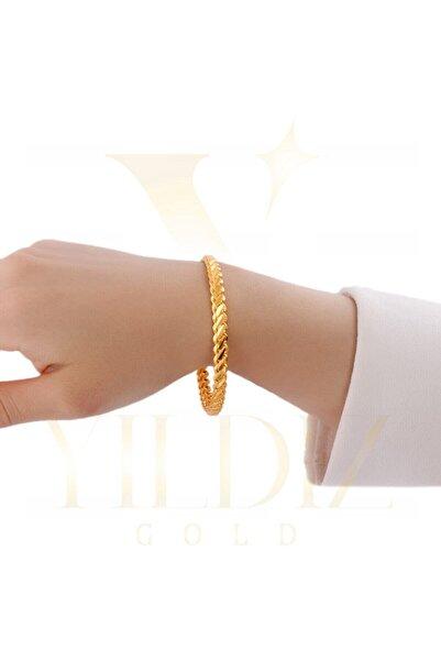 Yıldız Gold İmitasyon 22 Ayar Altın Kaplama Tek Adana Burma Bilezik