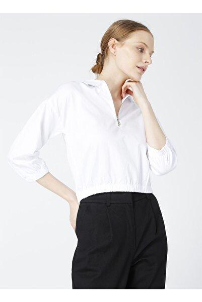 Fabrika Simin Beyaz Kadın Bluz