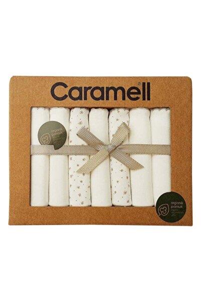 Caramell Bebek Soft Girl Penye Ağız Mendili - 7 Li - Ekru