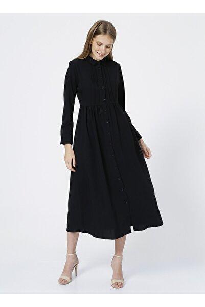 Fabrika Comfort Elbise, 42, Siyah