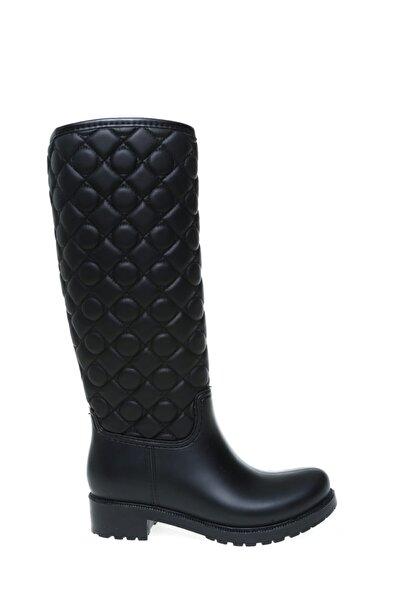T-Box Siyah Kadın Yağmur Çizmesi