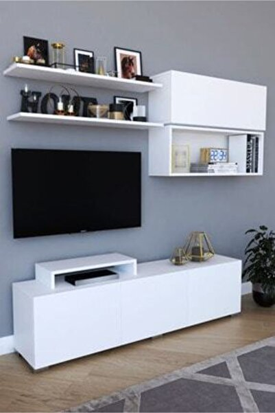 Haus Modüler Haus Dekor Tv Ünitesi - Beyaz