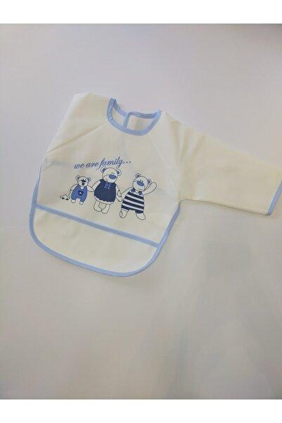 Veo Baby Erkek Bebek Kollu Silinebilir Mama Önlüğü