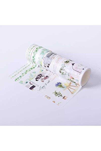 YEŞİL KIRTASİYE Dekor Tasarımlı Desenli Kağıt Bant Seti Washi Tape