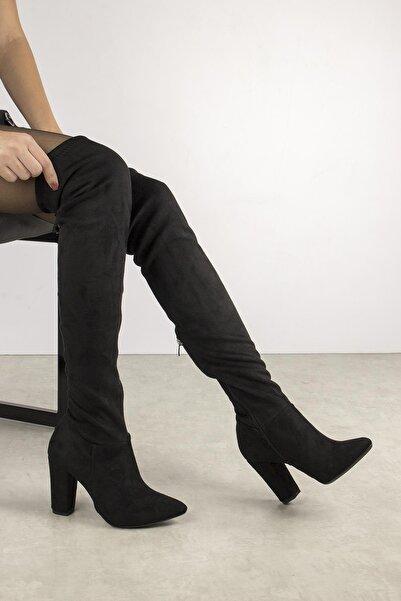 Gökhan Talay Merina Yüksek Kalın Topuklu Kadın Çorap Çizme