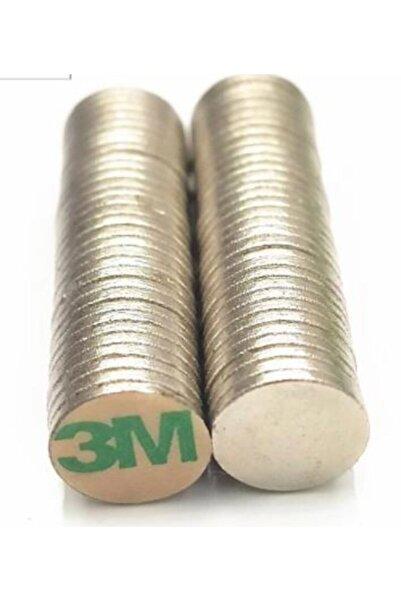 Hdg Yapışkanlı Neodyum Mıknatıs D10x1mm Çap - 10 Adet - Güçlü Neodyum Mıknatıs Magnet