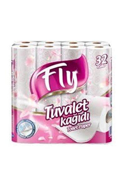 Fly Pembe Desenli Çift Katlı Tuvalet Kağıdı 32'li