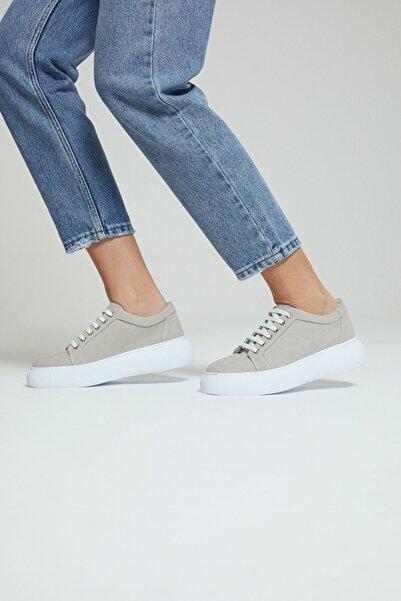 Derimod Kadın Bej Süet Sneaker