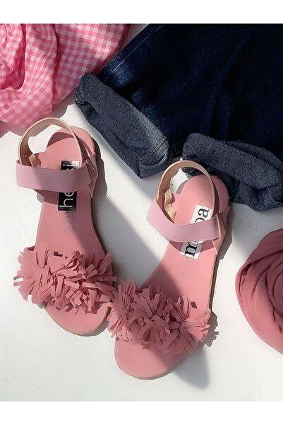Hepsi Moda Püsküllü Sandalet - Pembe