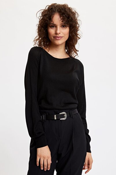 DeFacto Kadın Siyah Basic Triko Kazak N1505AZ.20SP.BK27