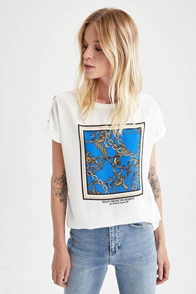 DeFacto Baskılı Kısa Kollu Tişört