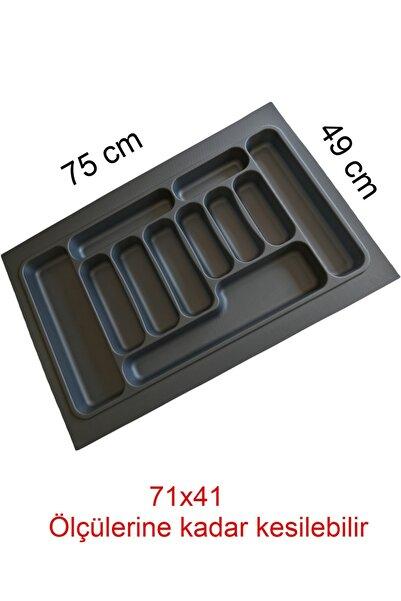 Tempo Gri Renk Çekmece Içi Düzenleyici Kaşıklık T-2275 / 75x49 Cm