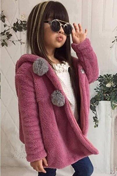 Riccotarz Kız Çocuk Tavşan Tasarımlı Kulaklı Fuşya Peluş Ceket