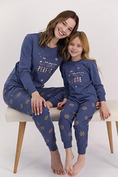 Arnetta Kadın Uzun Kol Snow Baskılı Pijama Takımı (anne Kız Kombin Yapılabilir Fiyatları Farklıdır)