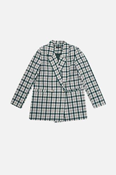 TRENDYOLMİLLA Çok Renkli Düğmeli Blazer Ceket TWOAW22CE0070