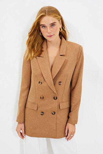 TRENDYOLMİLLA Camel Oversize Blazer  Ceket TWOAW22CE0208
