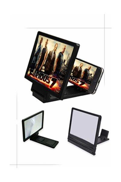 ÖzayPazarlama TR Büyük Boy Ekran Büyüteci 3d Siyah Telefon Projeksiyonu Telefon Ekran Büyütücü