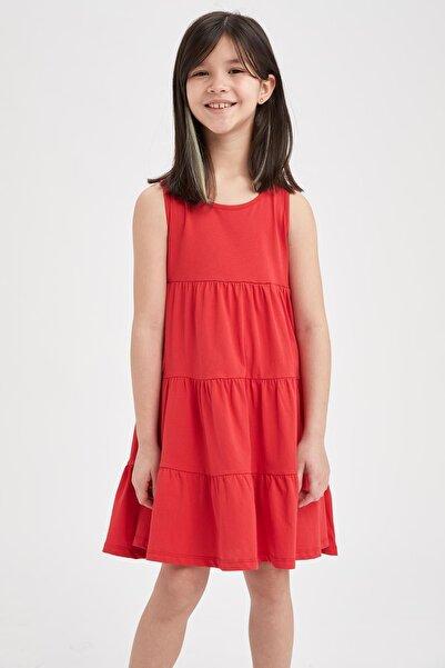 DeFacto Kız Çocuk Kolsuz Örme Elbise